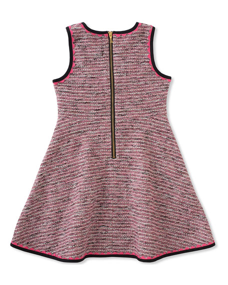 girls' knit tweed dress, size 7-14