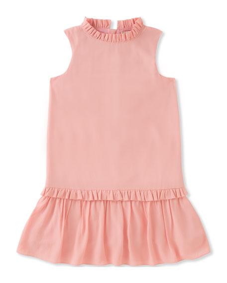 girls' ruffle collar dress, size 7-14