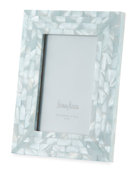 The Jws Collections Mother-of-Pearl Frame, Blue, 4