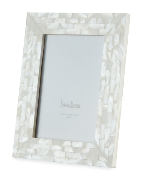 """Mother-of-Pearl Frame, White, 5"""" x 7"""""""