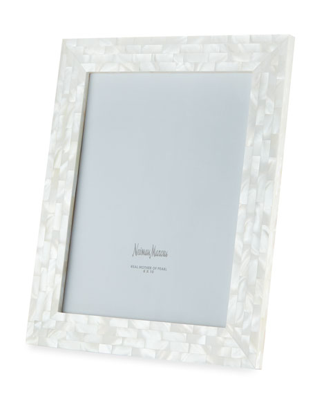"""Mother-of-Pearl Picture Frame, White, 8"""" x 10"""""""
