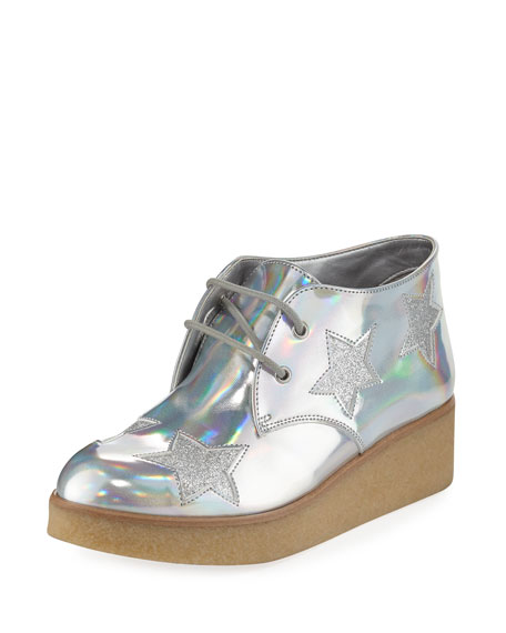 Wendy Star-Patched Platform Sneaker, Sizes 10T-5Y