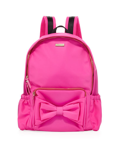 girls' back to school nylon backpack, pink