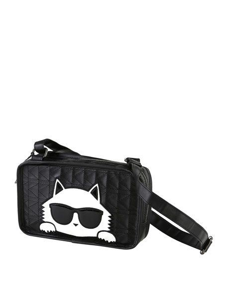 Karl Lagerfeld Girls' Stitched Shoulder Bag w/ Choupette
