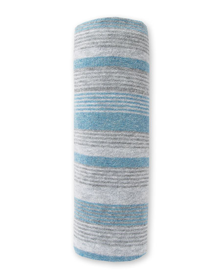 Take Me Home Striped Baby Blanket