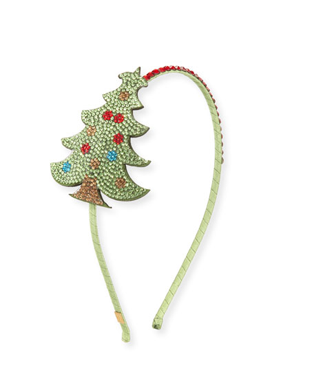Bari Lynn Girls' Crystal Christmas Tree Headband