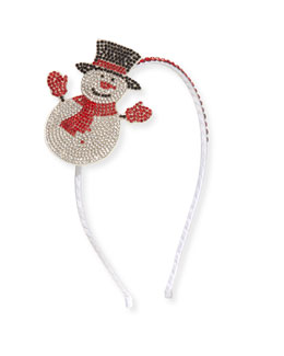Girls' Crystal Snowman Headband