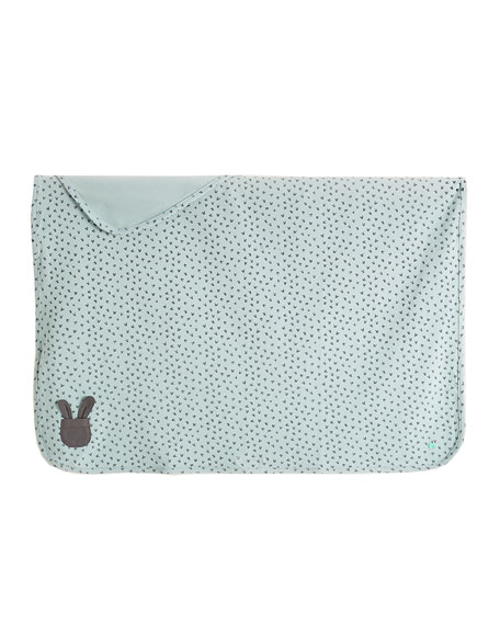 Bunny Silhouette Baby Blanket, Blue