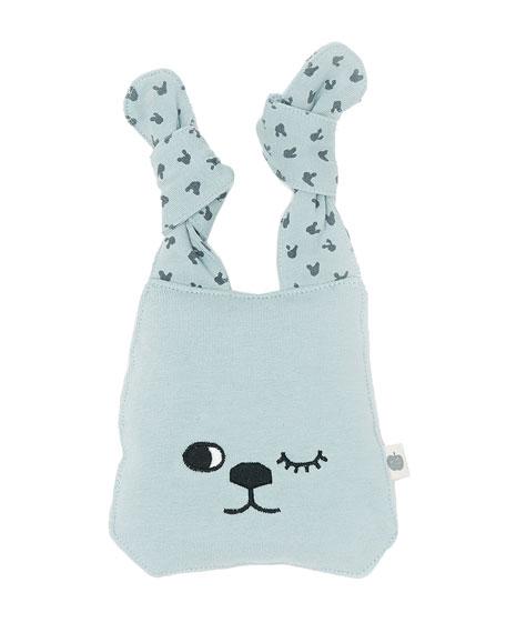 Knit Bunny Toy, Blue