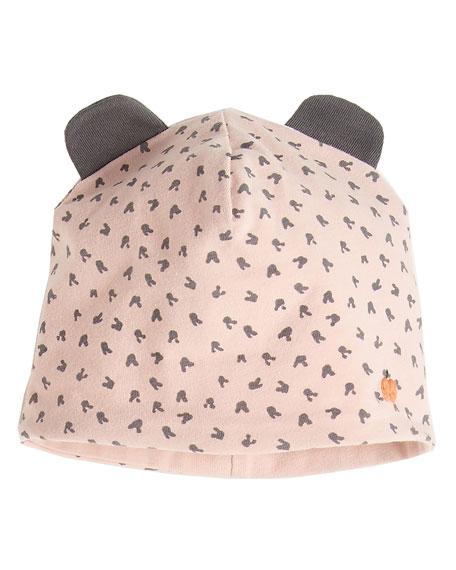 Reversible Baby Beanie Hat w/ Ears, Pink