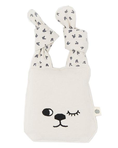 Knit Bunny Toy, Light Gray