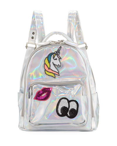 Kids' Hologram Backpack w/ Patches