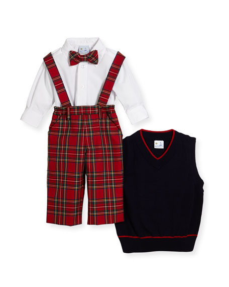 Boys' Tartan Plaid Layette Set, Size 2-4