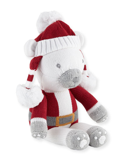 Boys' Polar Bear Santa Doll, 14""