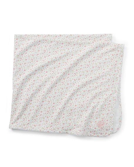 Ralph Lauren Childrenswear Floral-Print Baby Blanket