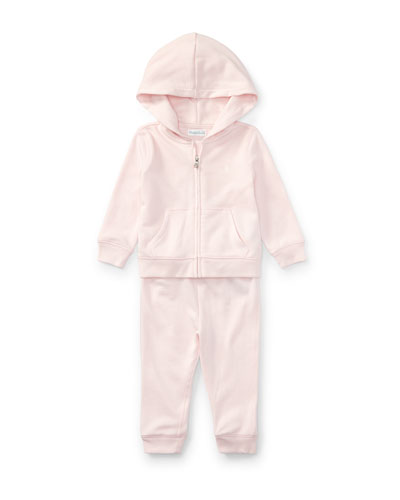 Atlantic French Terry Zip-Up Hoodie w/ Sweatpants, Size 9-24 Months