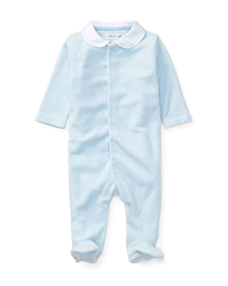 Velour Coverall, Size Newborn-9 Months