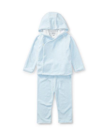 Boys' Velour Hooded Jacket w/ Pants, Size 9-24 Months