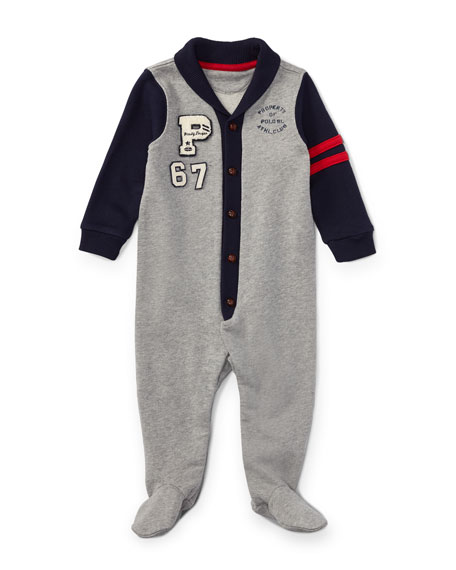 Fleece Shawl Coverall, Size 3-9 Months