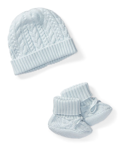 Cotton Accessory Set, Blue, Size Newborn-9 Months