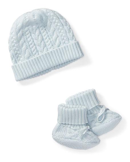 Ralph Lauren Childrenswear Cotton Accessory Set, Blue, Size