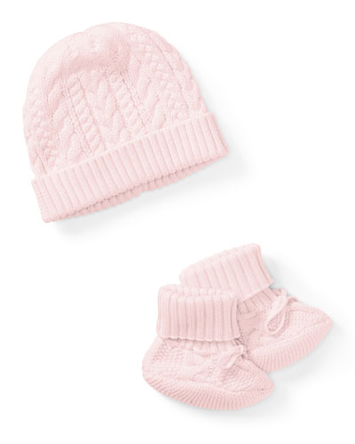 Cotton Accessory Set, Pink, Size Newborn-9 Months