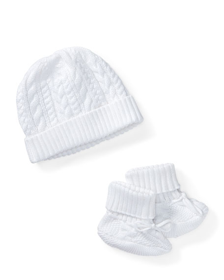 Ralph Lauren Childrenswear Cotton Accessory Set, White, Size