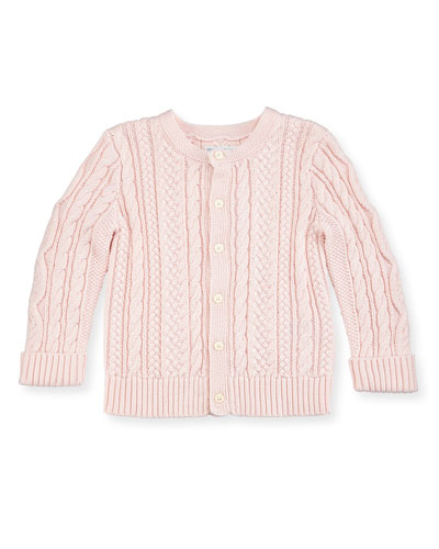Cotton Cable-Knit Cardigan, 6-24 Months