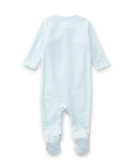 5534f2bdb Ralph Lauren Childrenswear Velour Striped Footie Pajamas, Blue, Size ...