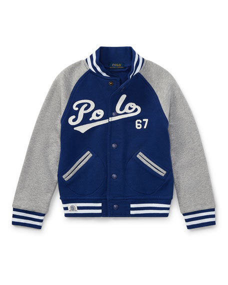 Lightweight Terry Baseball Jacket, Size 2-4