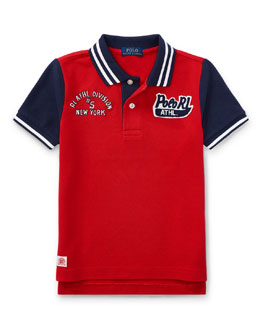 Mesh Athletic Patches Polo, Size 2-4