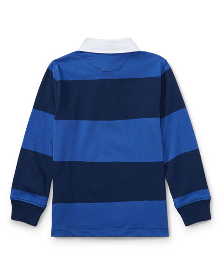 Jersey Rugby Striped Polo, Blue, Size 2-4