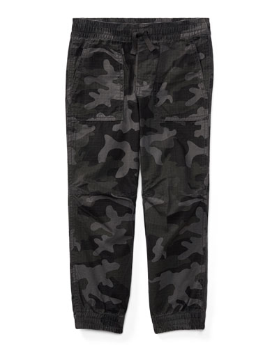Ripstop Camo Joggers, Size 2-4