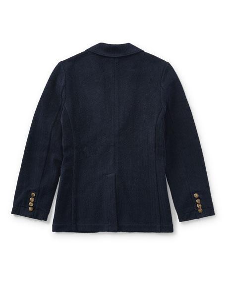 Herringbone Knit Blazer, Size 2-4