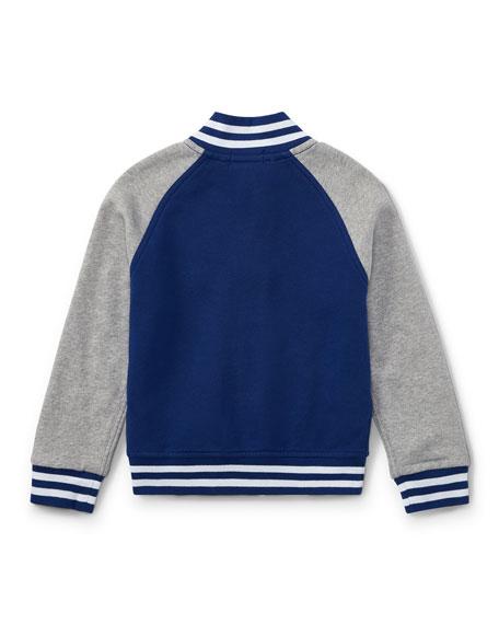 Lightweight Terry Baseball Jacket, Size 5-7