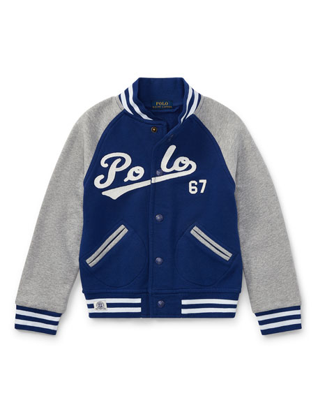 Ralph Lauren Childrenswear Lightweight Terry Baseball Jacket,