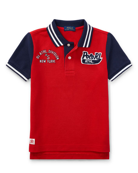 Mesh Athletic Patches Polo, Size 5-7
