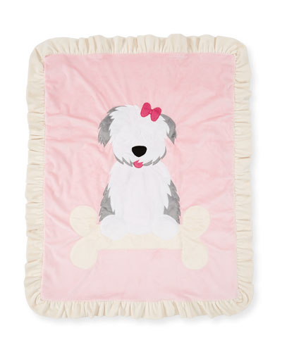 Puppy Love Plush Baby Blanket, Pink