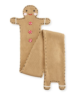 Kids' Gingerman Knit Scarf