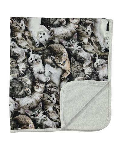 Neala Reversible Cat Blanket, Gray