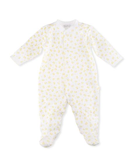 Duck Printed Footie Pajamas, Size Newborn-9 Months