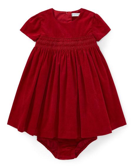 21-Wale Corduroy Dress w/ Bloomers, Size 9-24 Months
