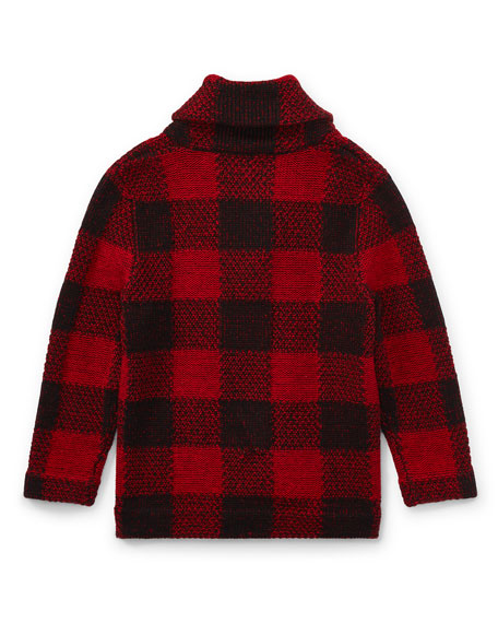 Wool-Blend Shawl Cardigan, Size 2-4