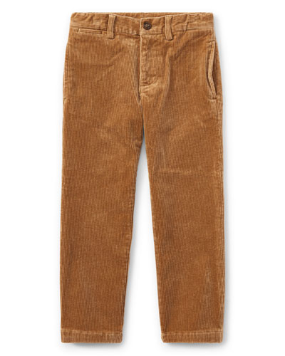 Suffield 10-Wale Corduroy Pants, Khaki, Size 2-4