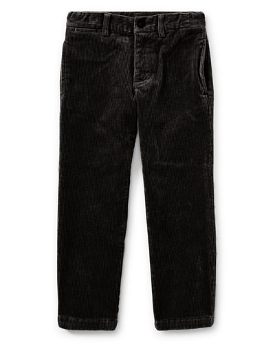 Suffield 10-Wale Corduroy Pants, Black, Size 2-4