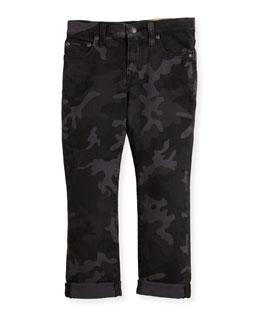 Denim Camo Skinny Jeans, Size 5-7