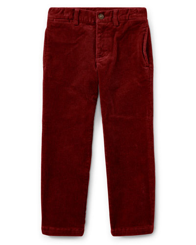 Suffield 10-Wale Corduroy Pants, Red, Size 5-7