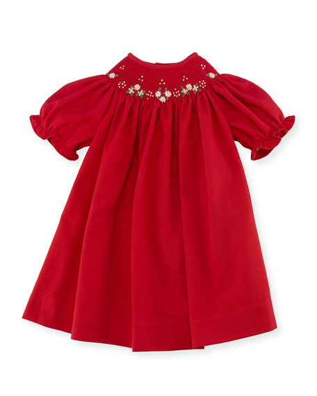 Bishop Dress, Red, Size 3-24 Months