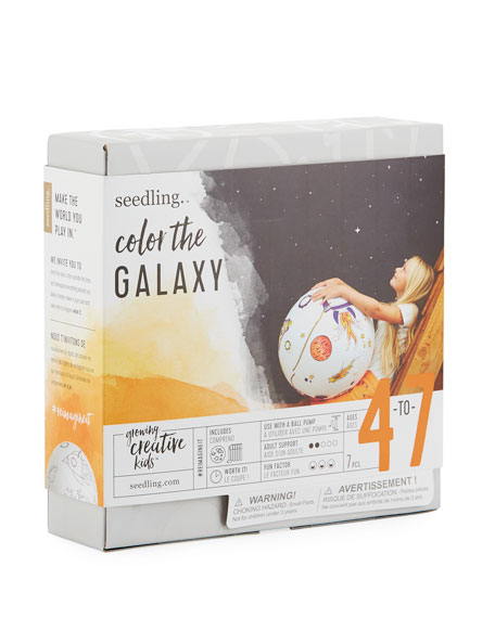 Color the Galaxy Kit - Inflatable Fabric Galaxy Ball & Marker Set