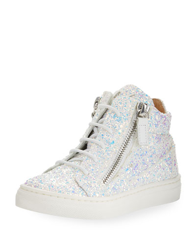 Mattglitt High-Top Glitter Sneaker, Toddler